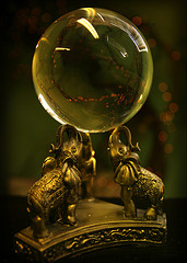 Photograph of a crystal ball